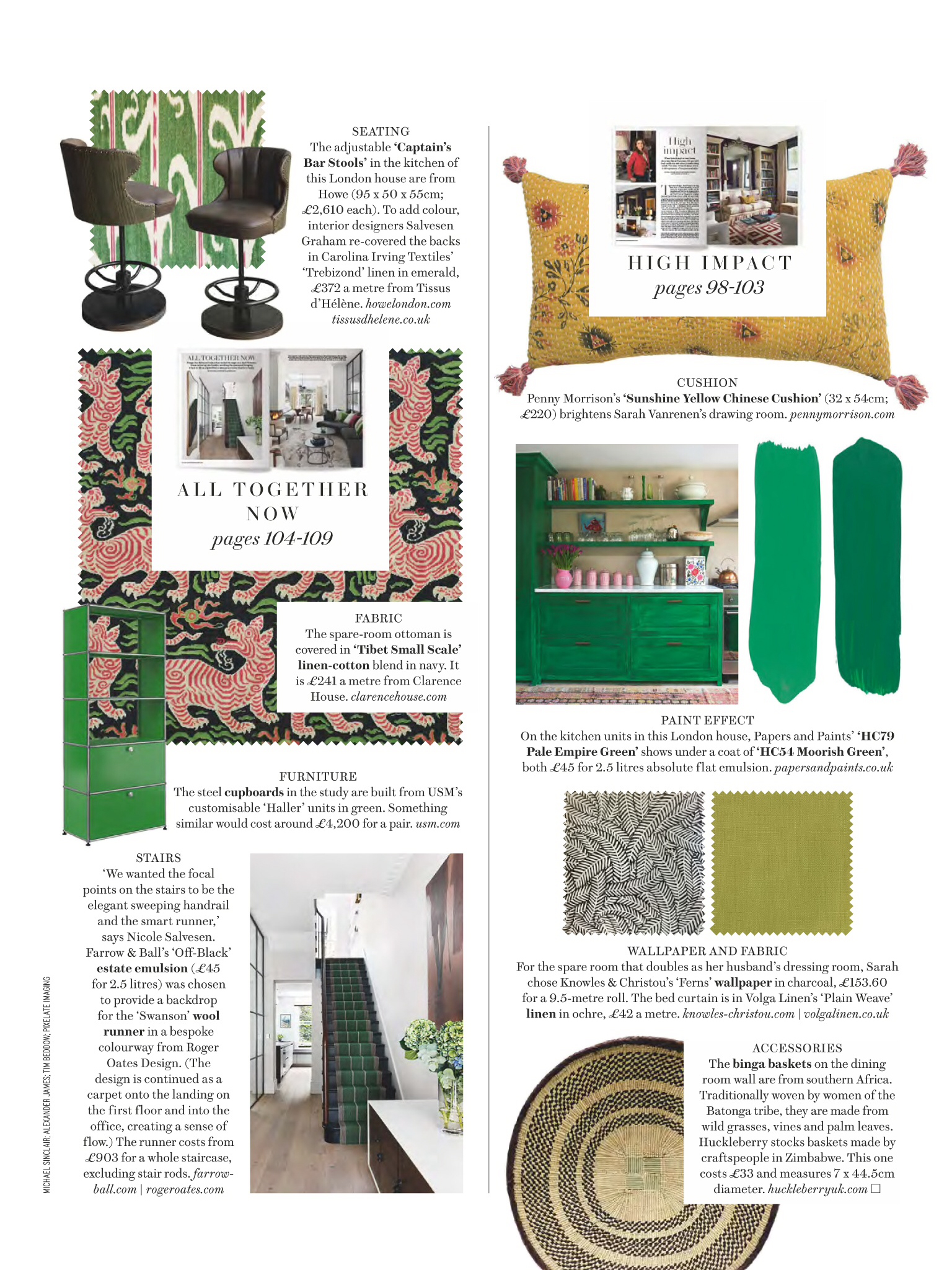House and Garden Ferns wallpaper feature March p1