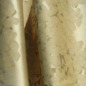 Hand printed fabric Blossom silk