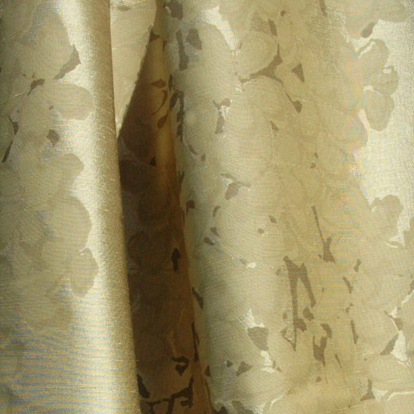 Hand printed fabric Blossom silk