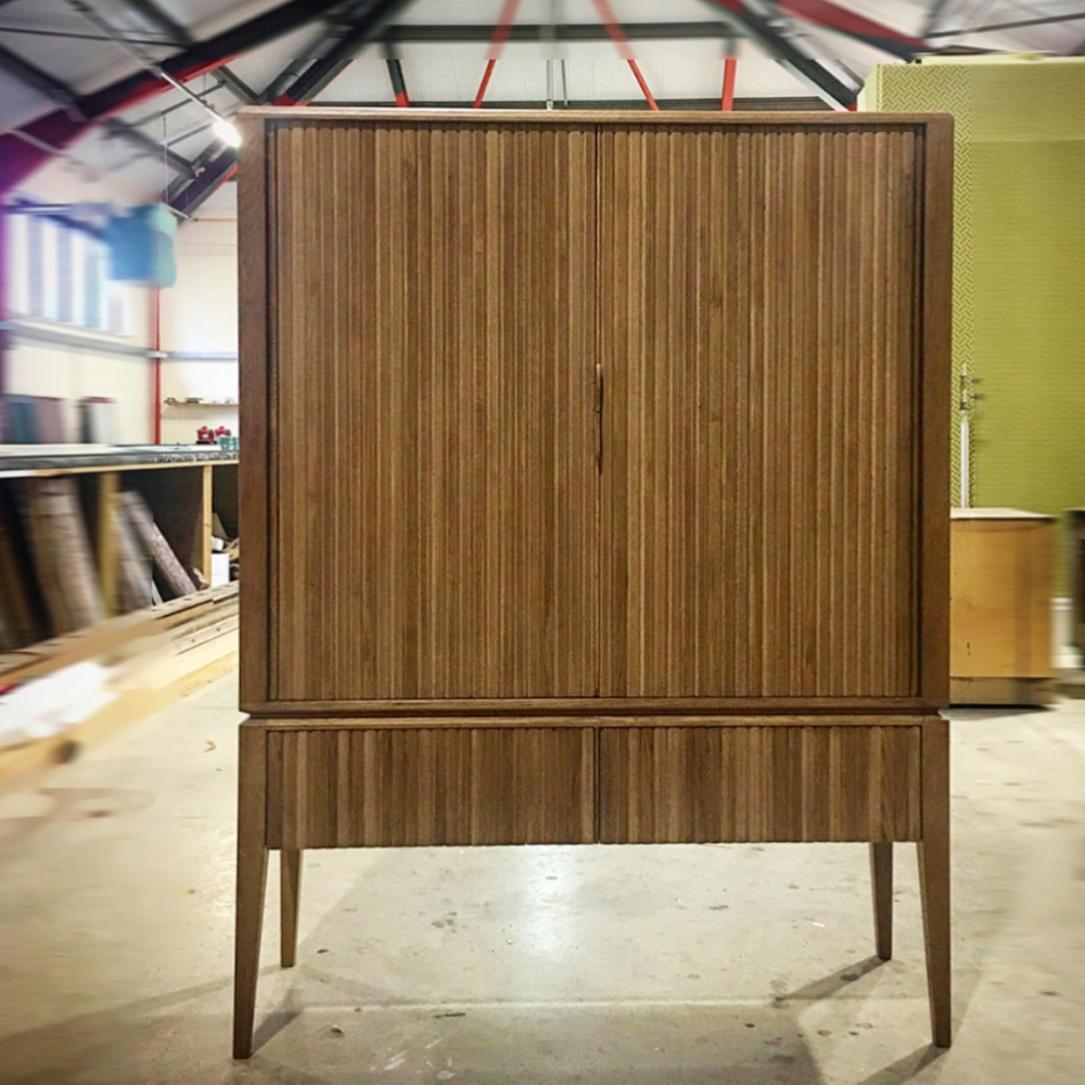 Hand Made Furniture Tambour Cabinet