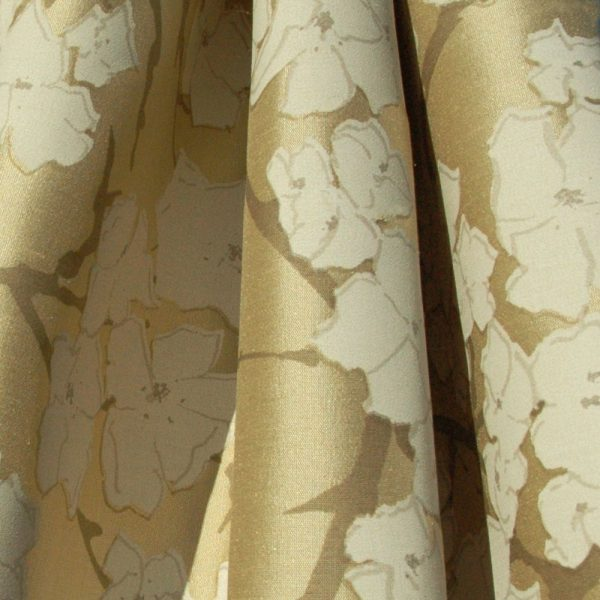 Hand printed fabric silk Brambles