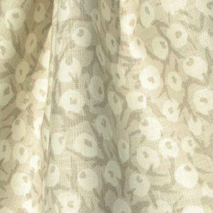 Hand printed fabric crabapple linen
