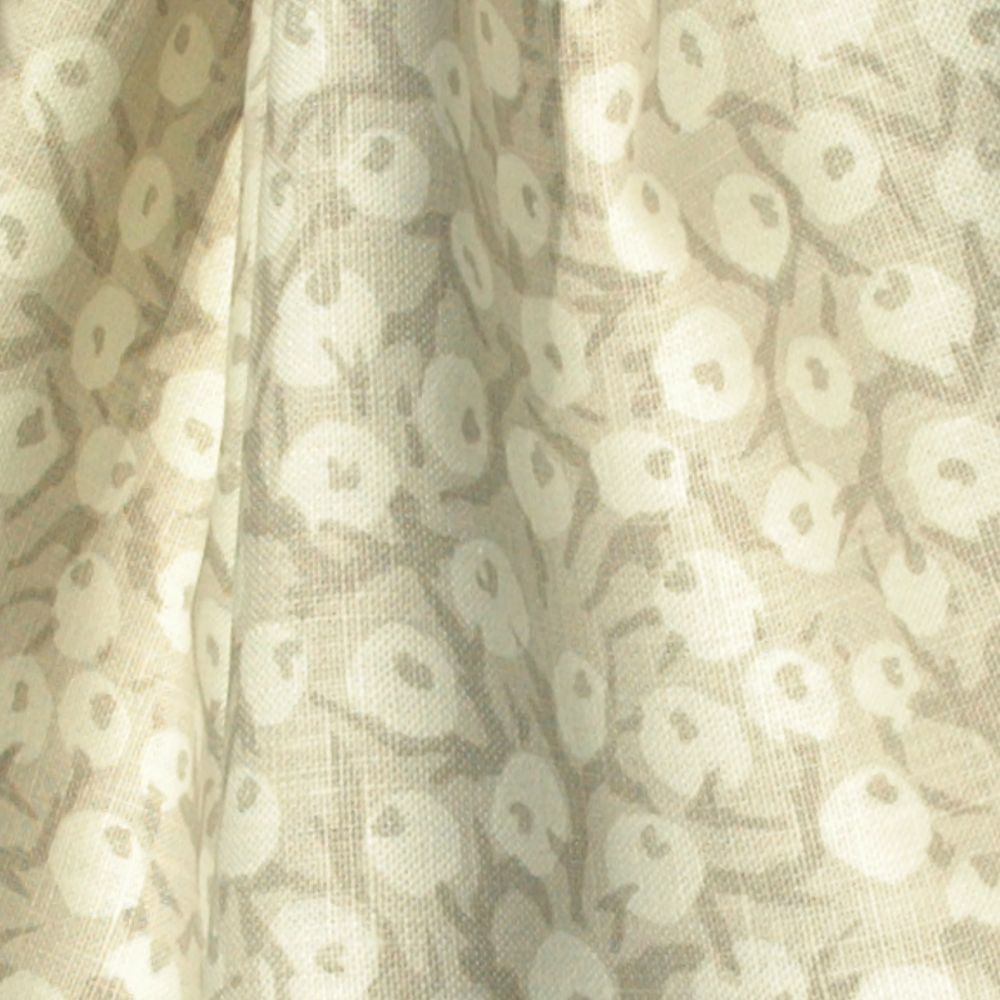 Hand printed fabric crabapple linen