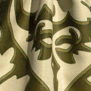 Hand printed fabric linen Damascus