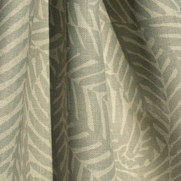 Hand printed fabric linen Ferns