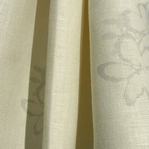 Hand printed fabric Petal linen