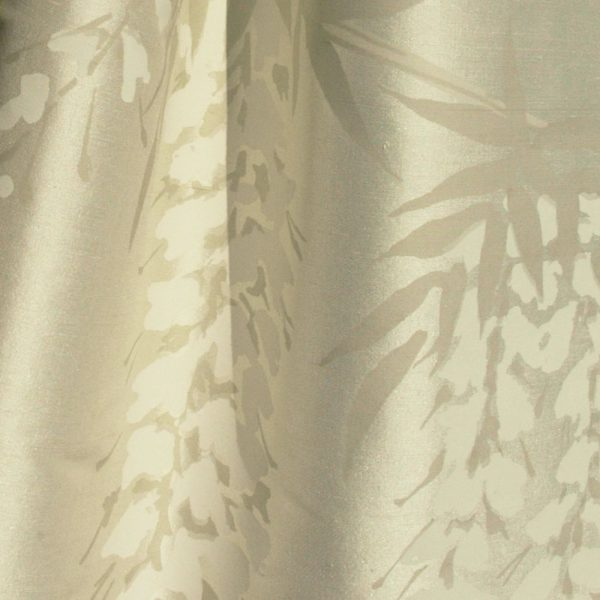 Hand printed fabric Wisteria Silk
