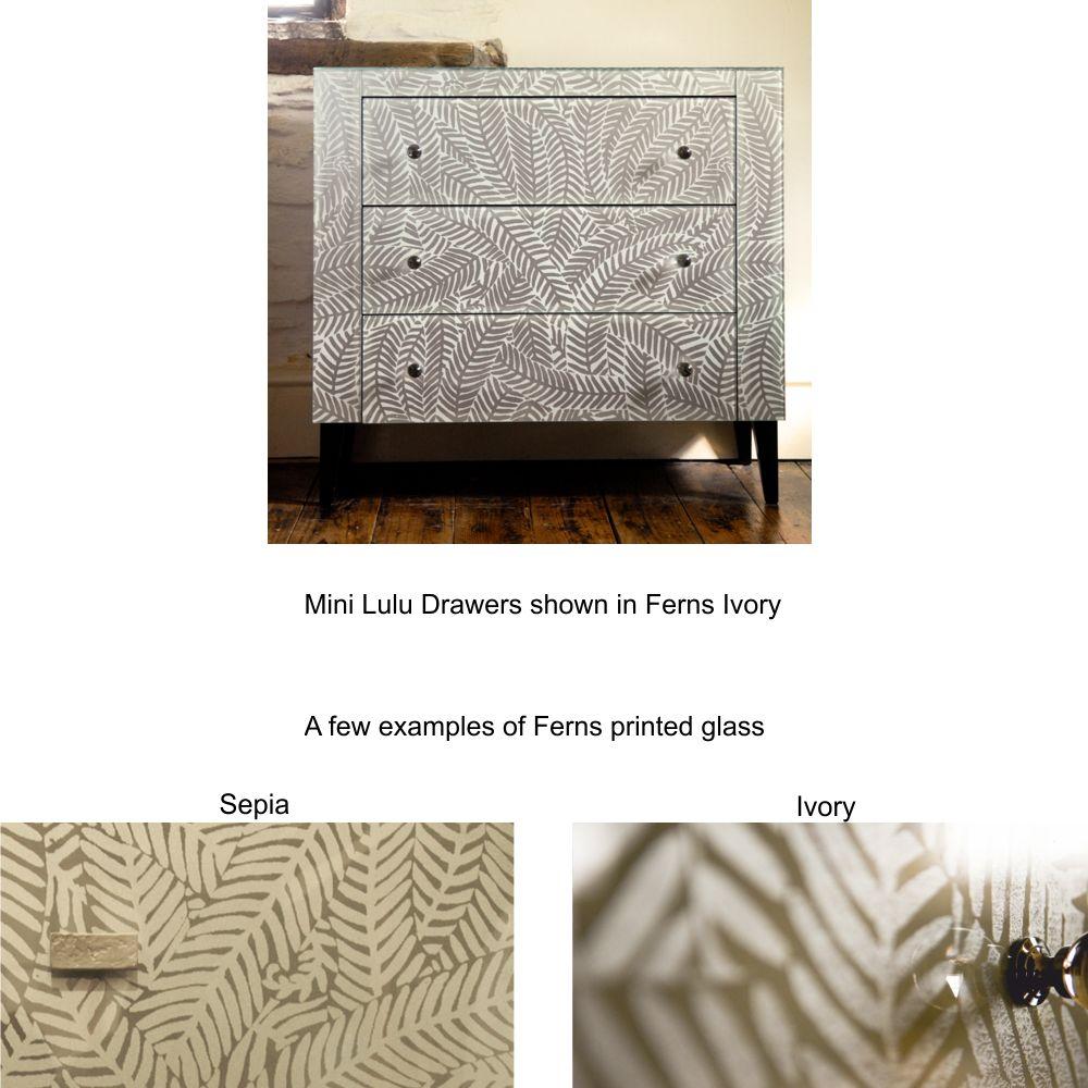 hand made furniture printed glass