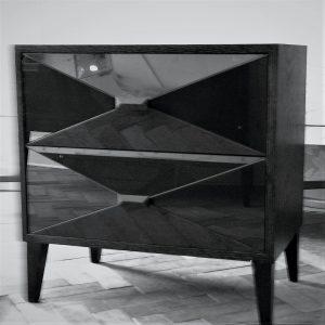 2 drawer sugarcube table