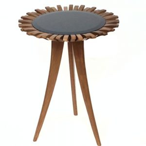 peggy table navy mid oak